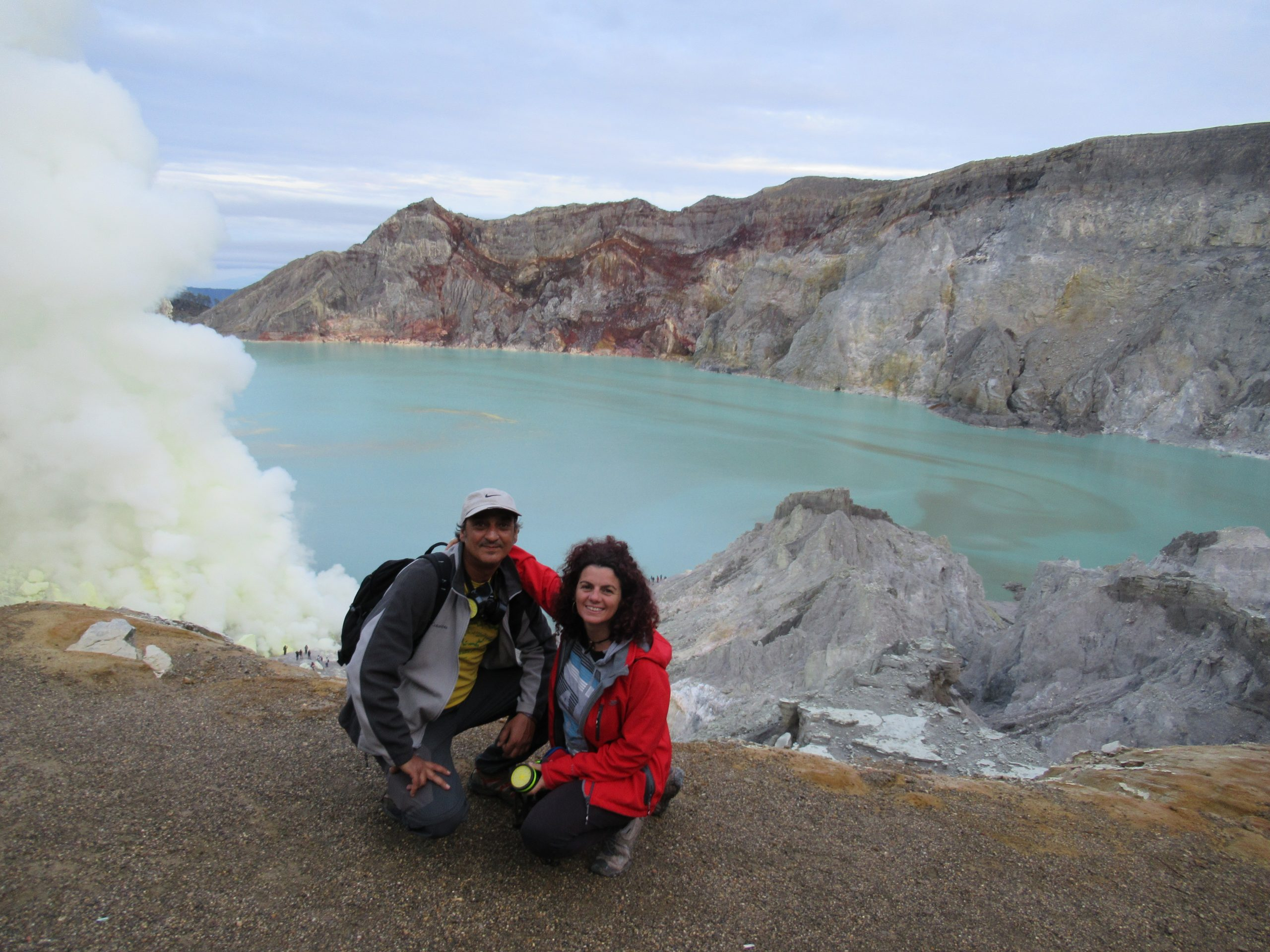 Lago del volcán Ije