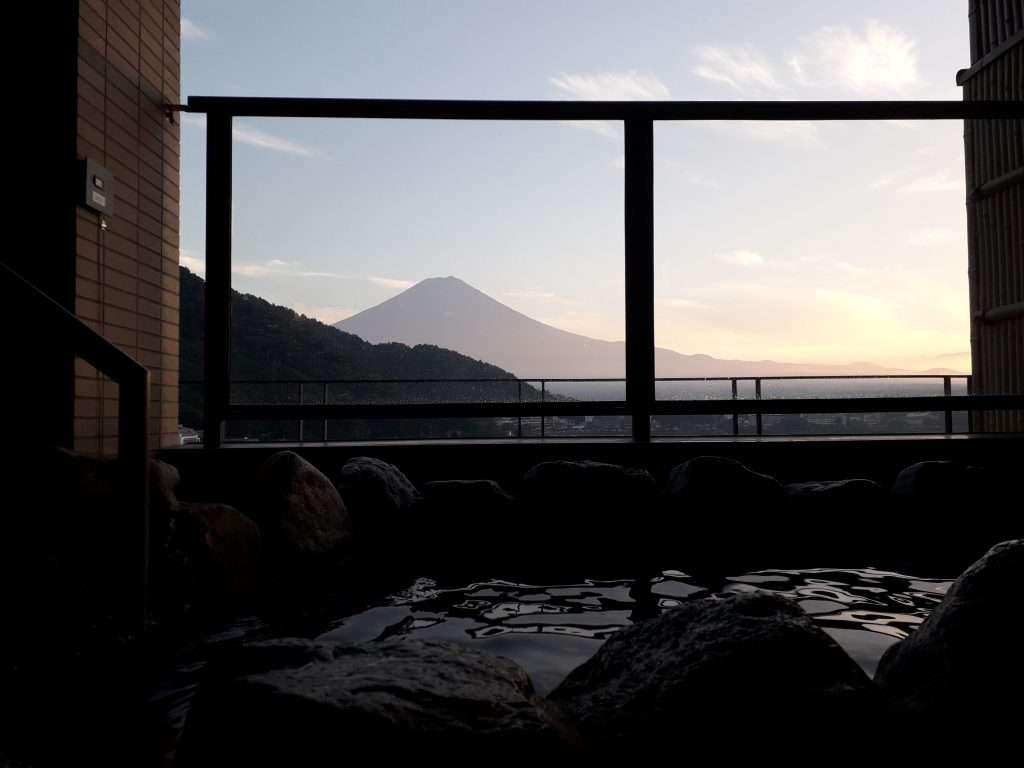 Vistas al Fuji desde Onsen
