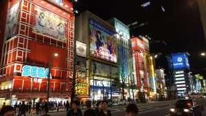Luces en Akihabara