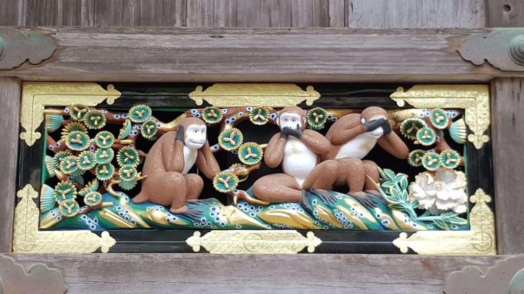 Monos sabios del budismo