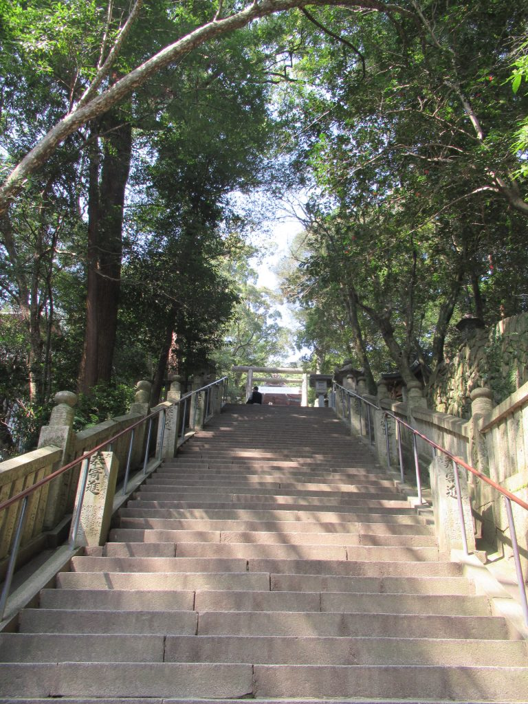 Escalera de subida a Konpira-sa