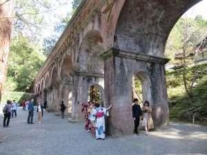 Acueducto en el templo de Nanze-ji