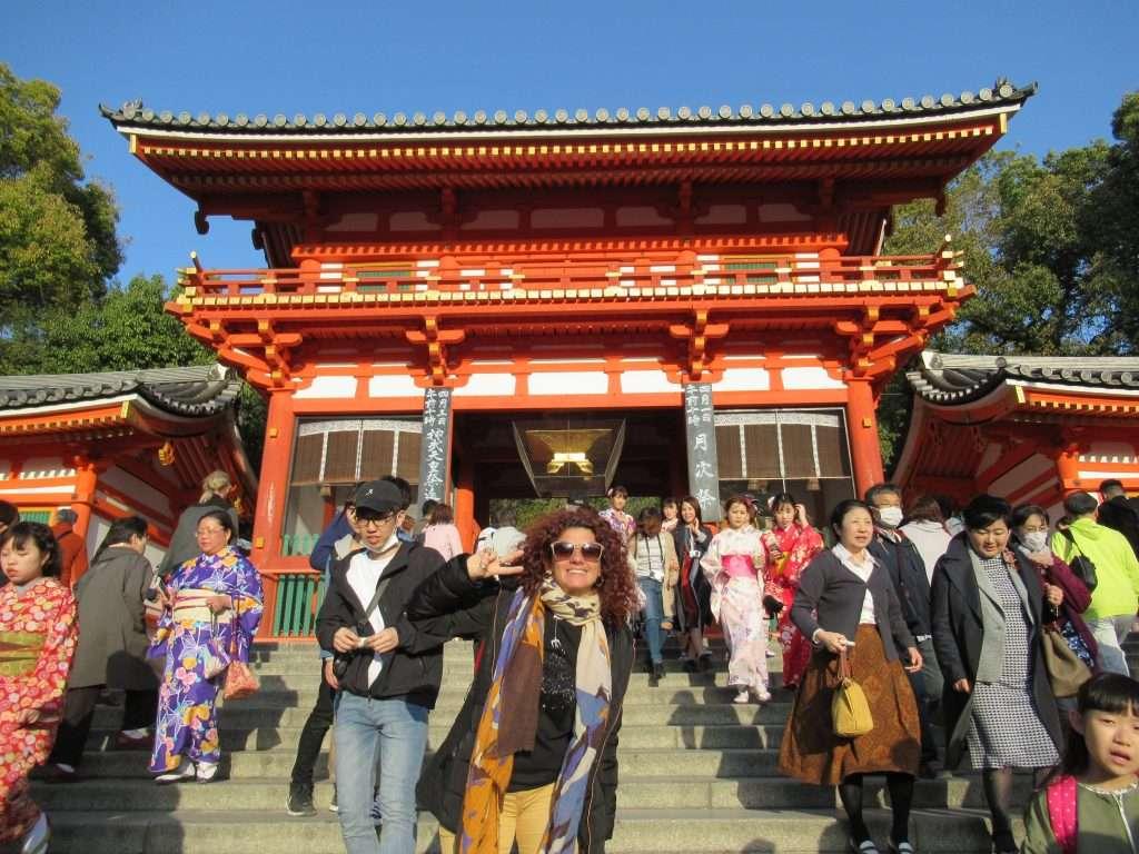 Entrada al santuario Yasaka