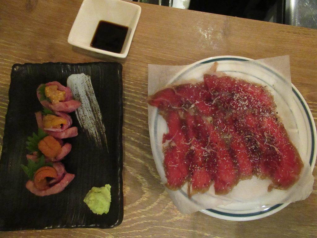 Jamón de Kobe y rollitos de Wagyu