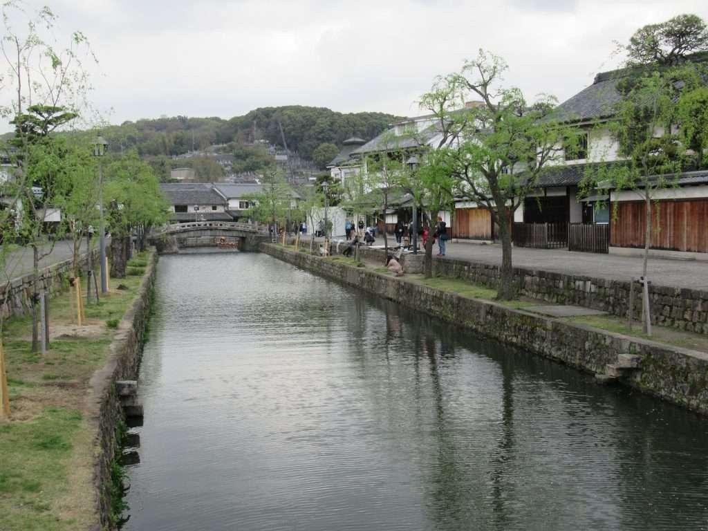 Canal en la ciudad de Kurashiki