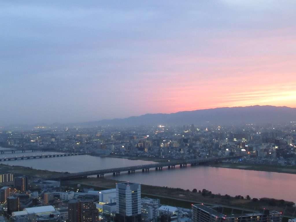 Atardecer desde Umeda Sky Building