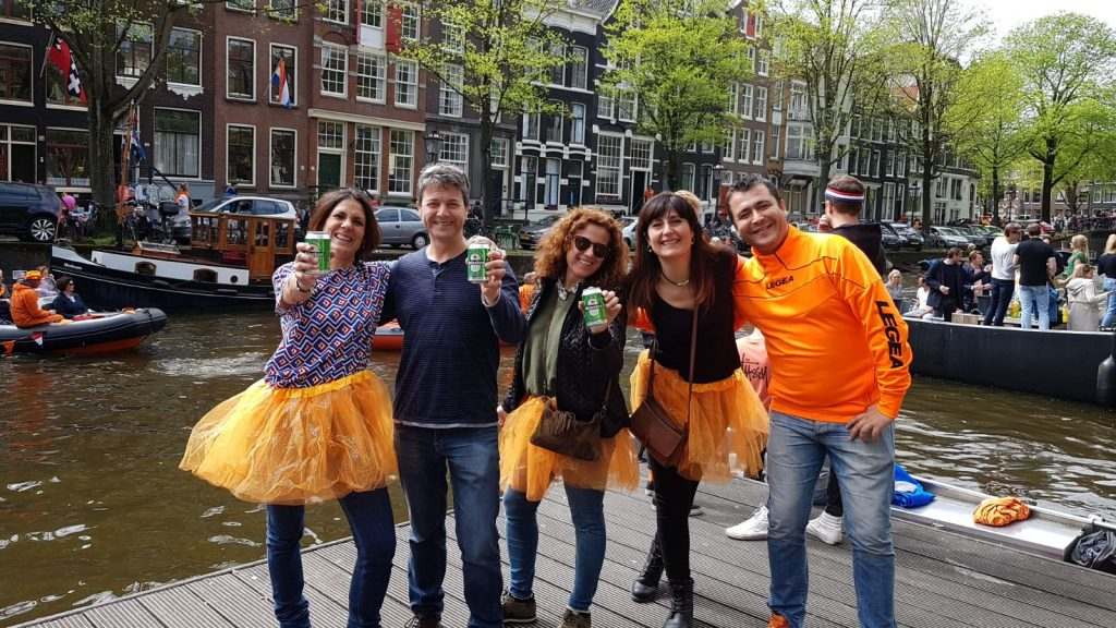 Fiesta del rey en Amsterdam