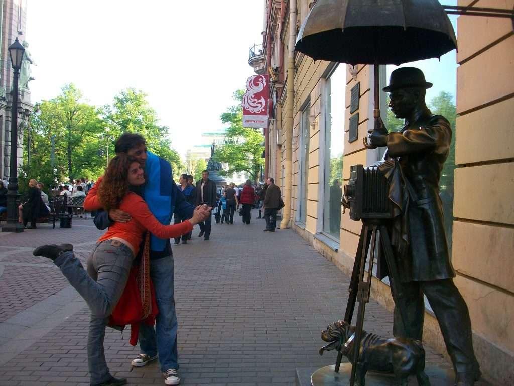Escultura en la avenida Neva