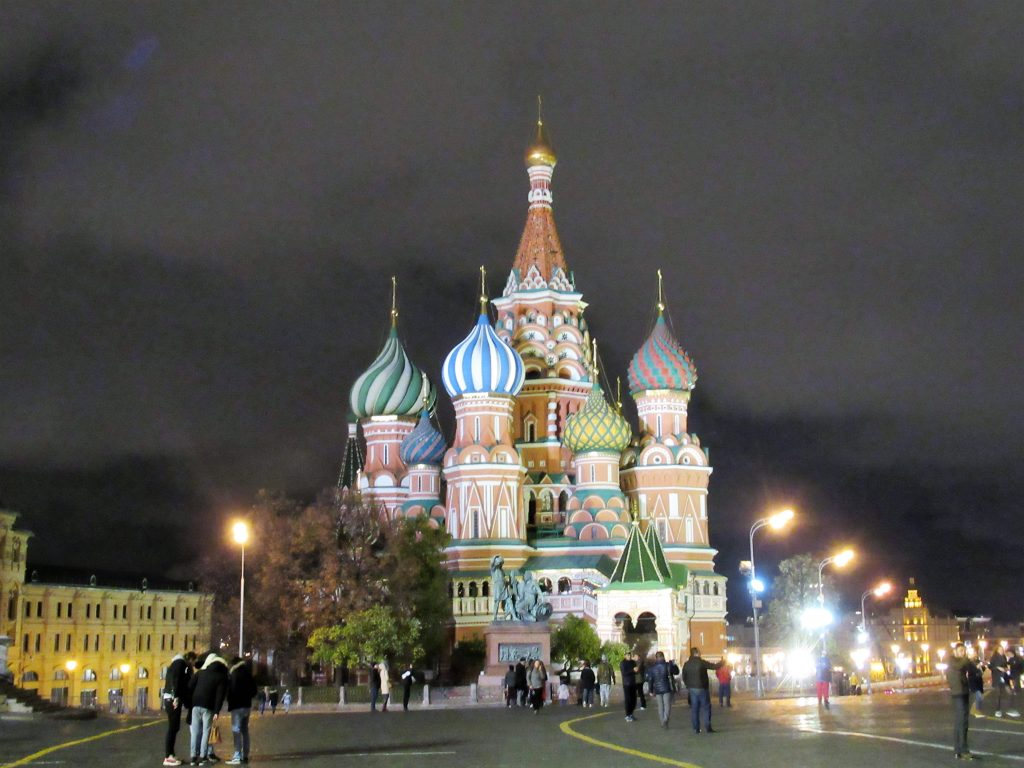 Catedral San Basilio iluminado