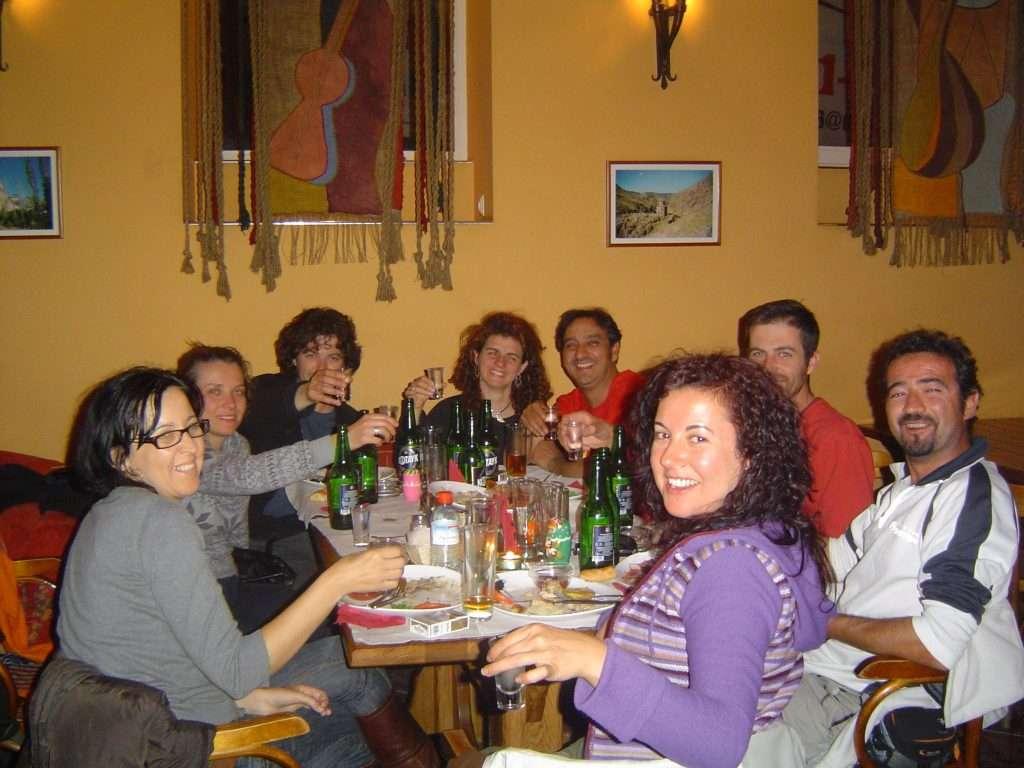 Cenando en el restaurante Kilikia de San Petersburgo