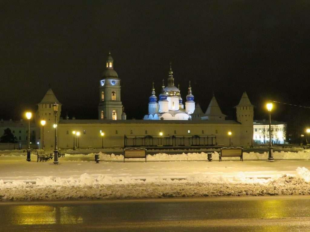 Kremlin de Tobolsk iluminado