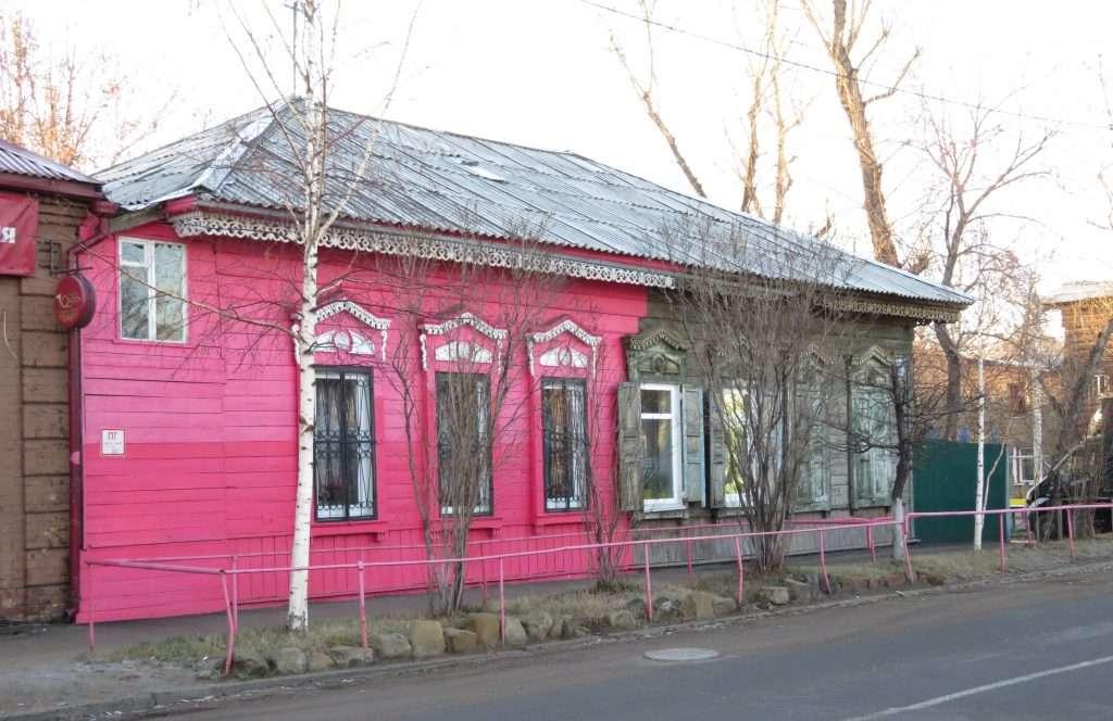 Casa de madera en Irkut
