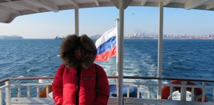 Vistas de Vladivostock desde el barco