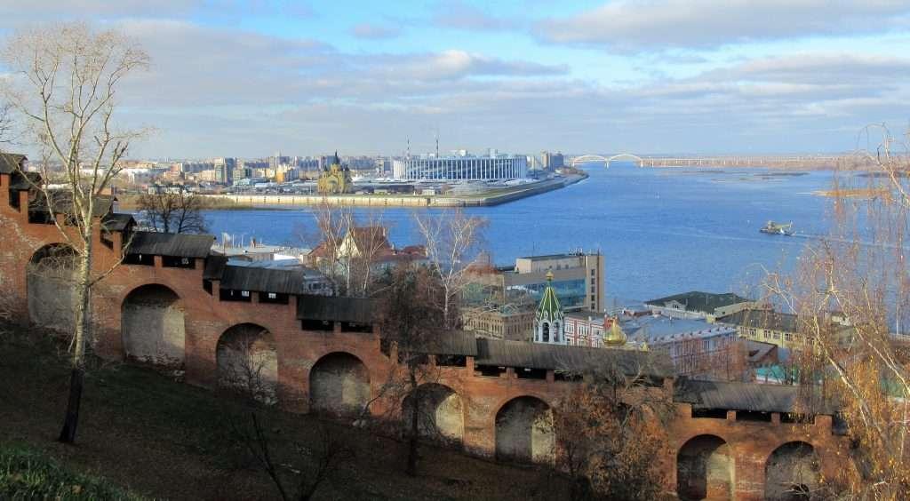 Confluencia del río Oka con el Volga