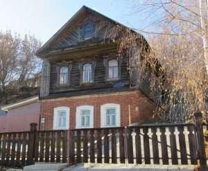 Casas típicas de la isla Sviyazhsk