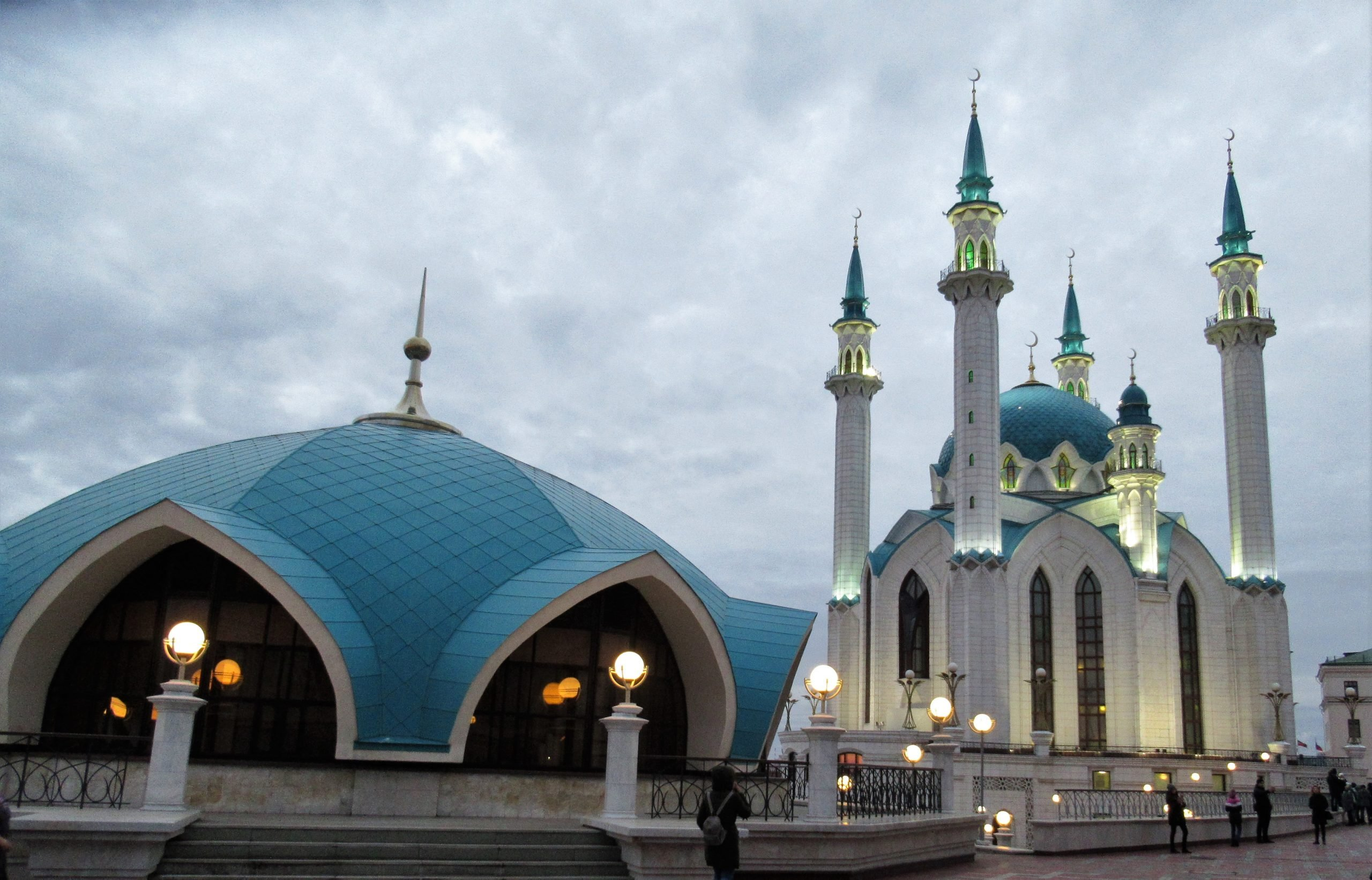 Mezquita de Kazan al anocher