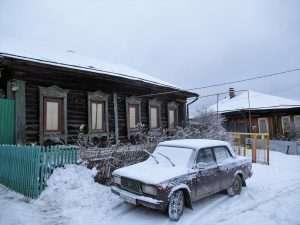 Típica postal de Siberia