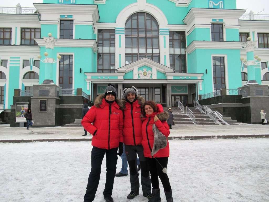 Llegada a Omsk, temperatura: -6ºC
