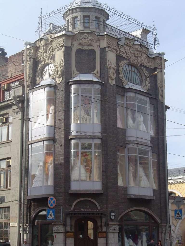 Edificio Singer en la avenida Neva