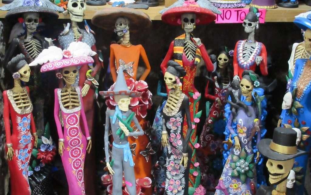 Catrinas en el mercado de Morelia