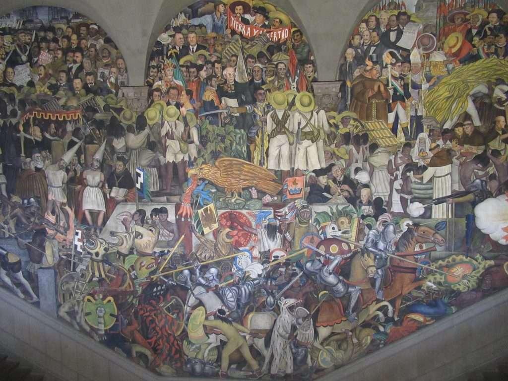 Murales de la historia de México por Diego Rivera