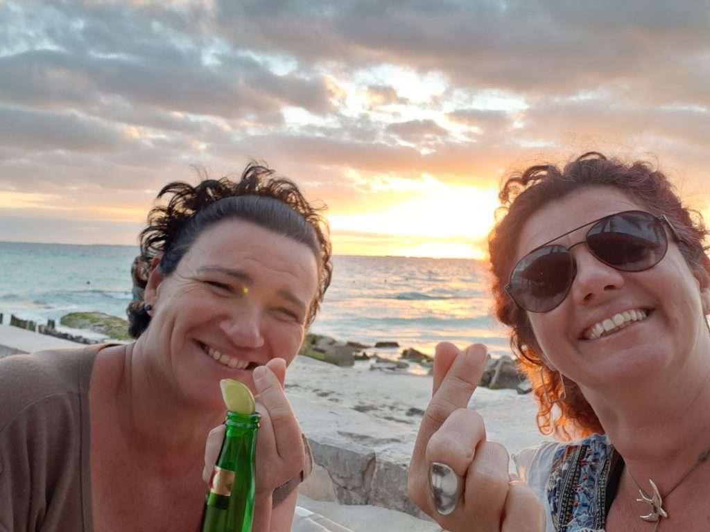 Atardecer en Playa Norte, Isla de Mujeres