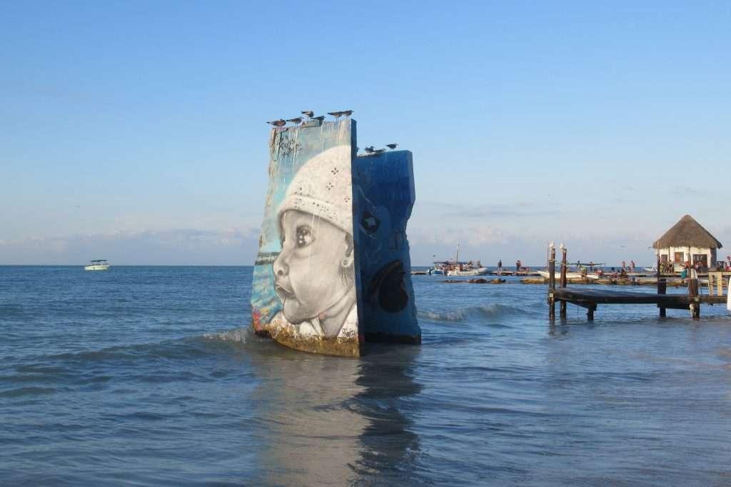 Grafiti en Punta Cocos