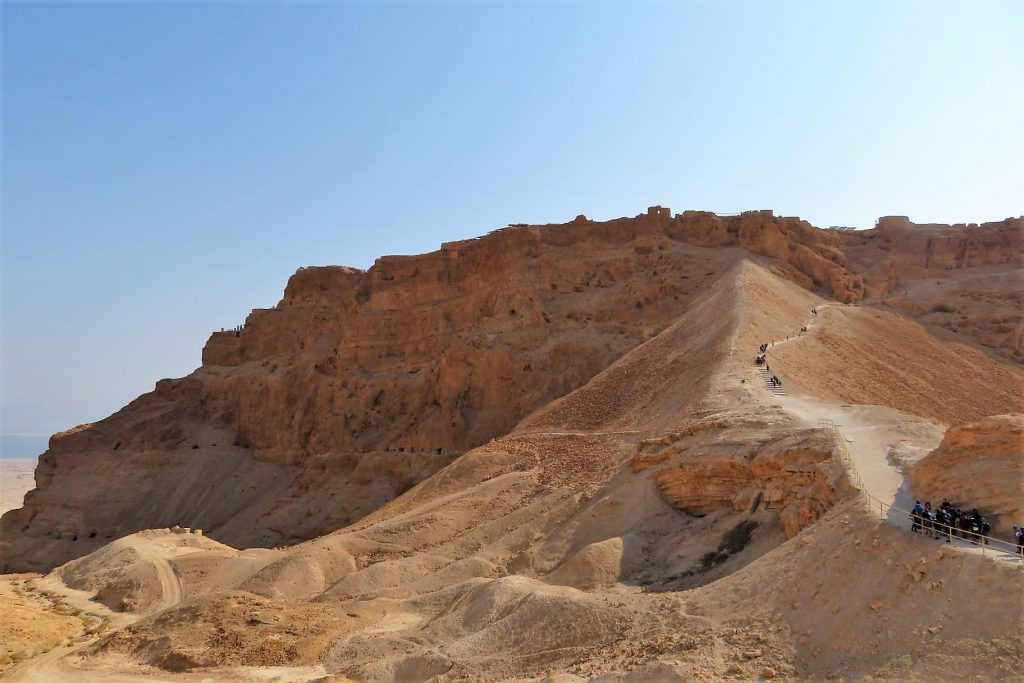 Masada, camino de la Rampa