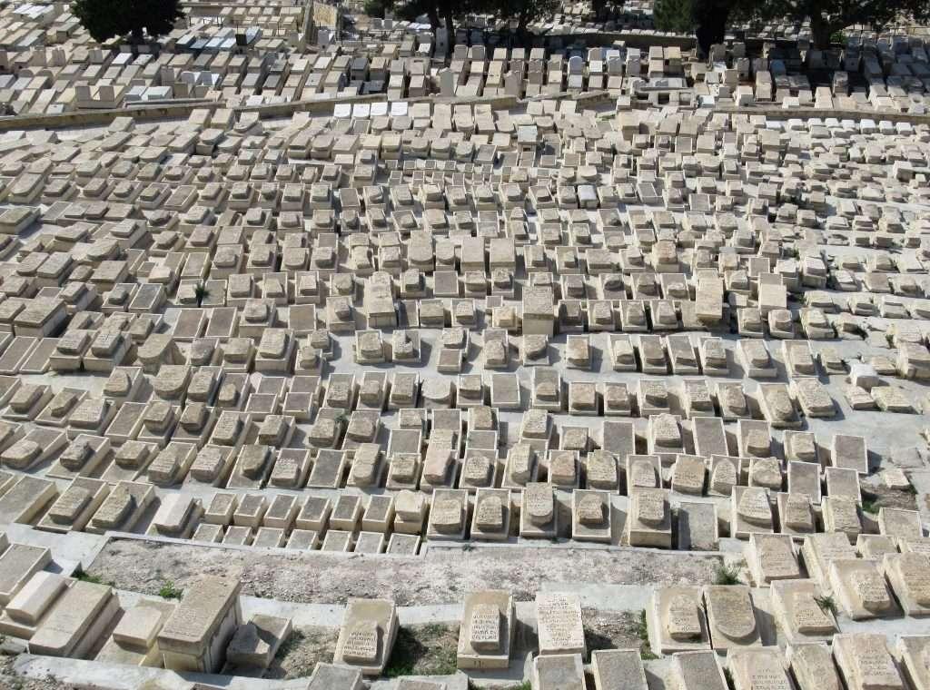 Cementerio judío en Monte de los Olivos