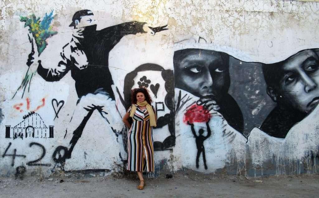 Grafiti en el muro de la Vergüenza