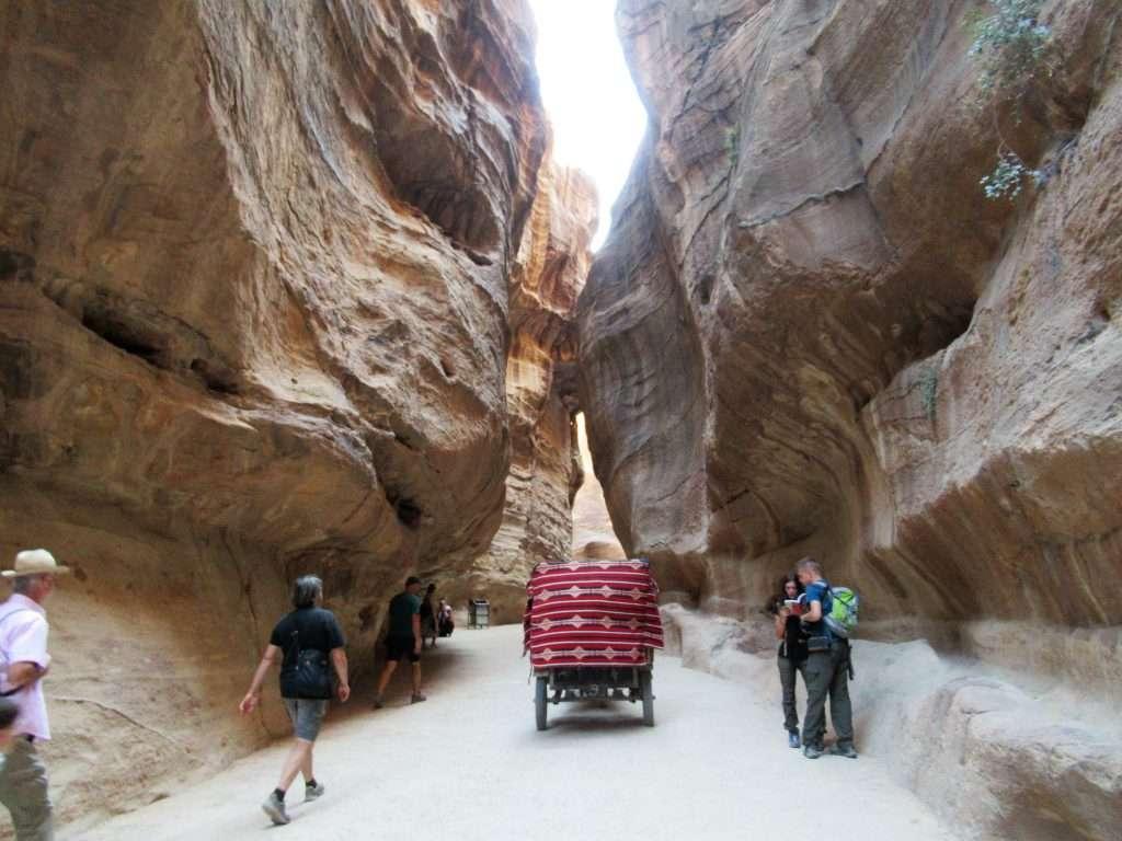 Garganta del Siq en Petra