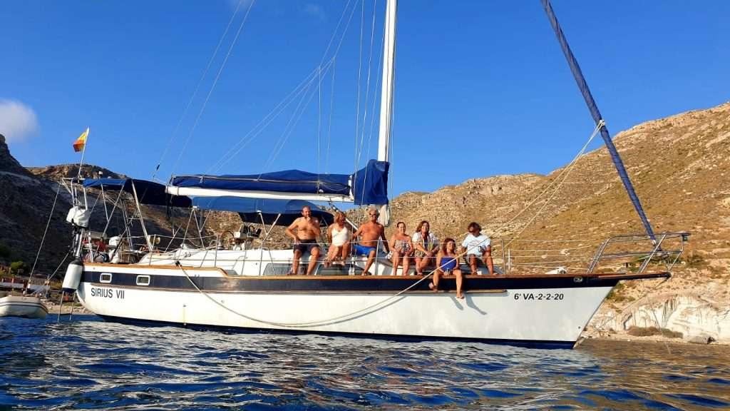 Paseo en velero con divsail